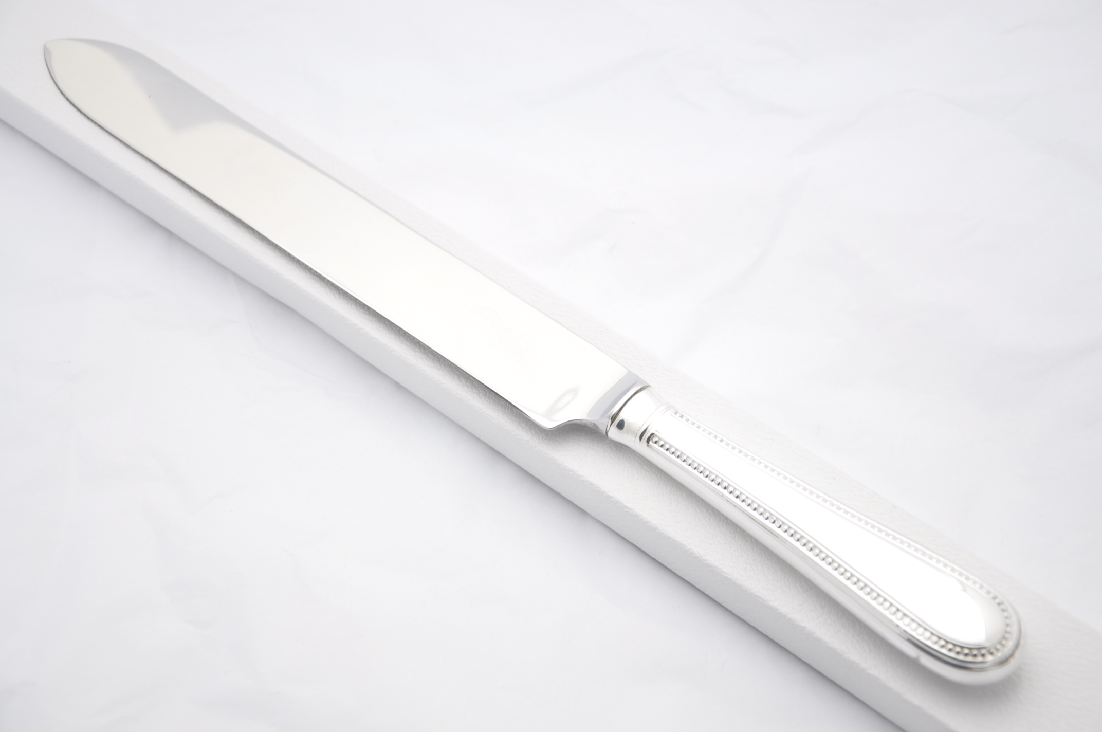 bead pattern silver plated wedding cake knife t boxed the